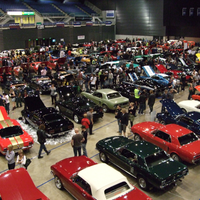 Flashback to the 2008 National Mustang Convention held at Horncastle Arena, Christchurch, showing a section of the Mustangs on display and the strong public interest. The 2020 display is expected to be about 50% larger!